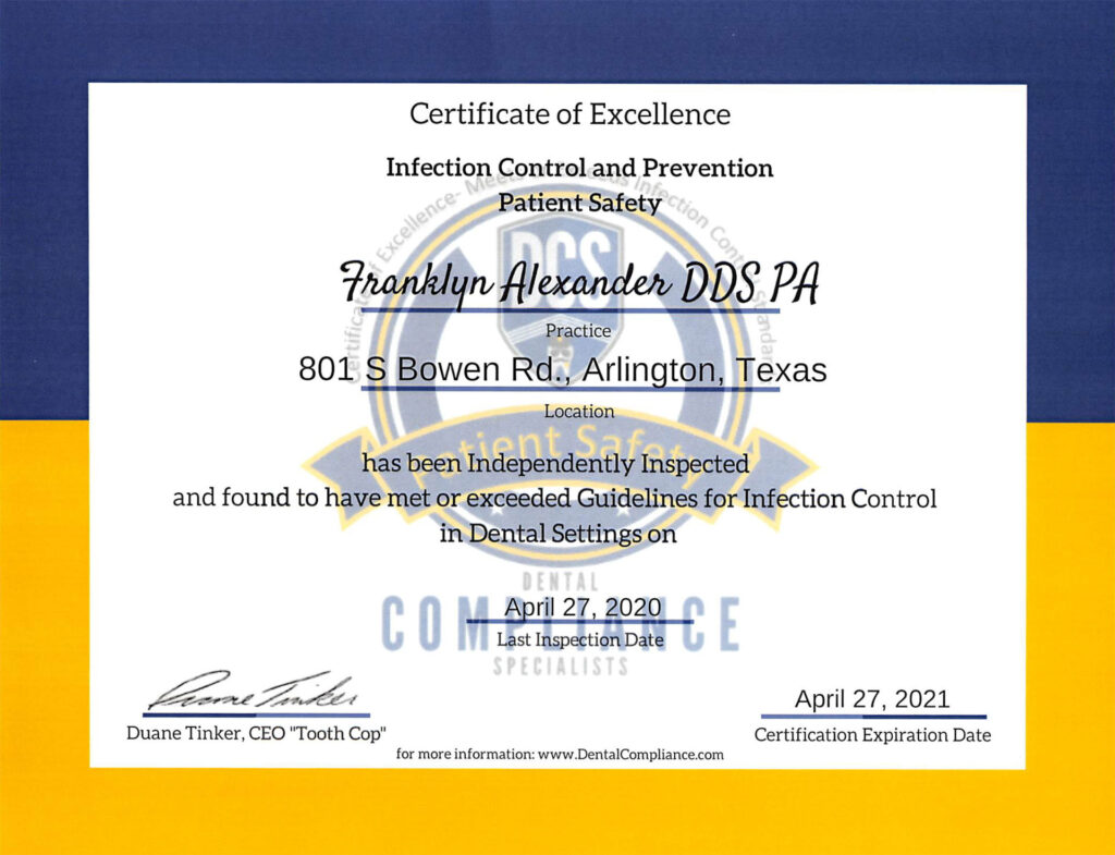 Coronavirus safety certification.